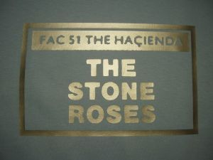 WOMENS RETRO MADCHESTER `HACIENDA FAC 51 THE STONE ROSES` T-SHIRT